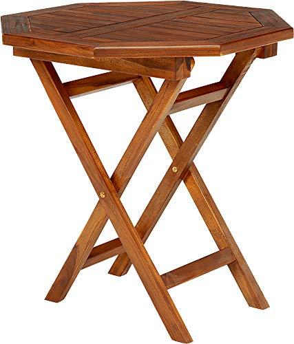 ガーデンテーブル テーブル ダイニングテーブル 幅70cm チーク材 八角形 アウトドア 木製 屋外 テラス 折りたたみ 軽量 コンパクト