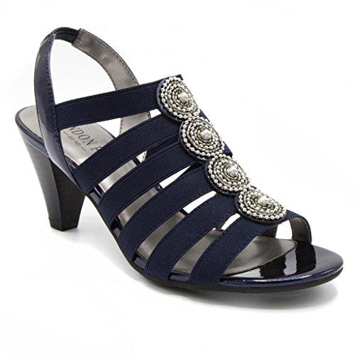 LONDON FOG Nanci Dress Sandals Navy 7.5 M US