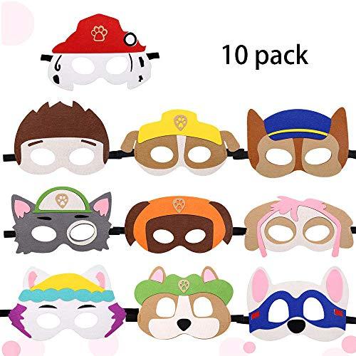 Puppy Party Masken,Paw Dog Masken,Geburtstag Augenmaske,Charakter Masken,Halbmasken Kinder,Tiermasken,Augenmaske Kinder,Cosplay Party Masken,Kinder Masken