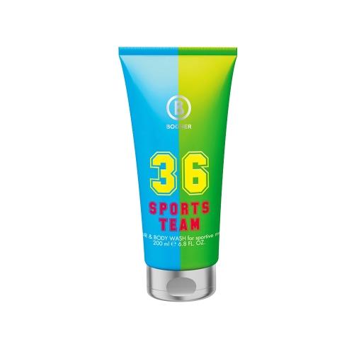 Bogner Sports Team 36 homme, Hair & Body Wash for Sportiv Man, 1er Pack (1 x 200 ml)