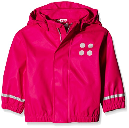LEGO Wear Mädchen Jane 101-RAIN Jacket Regenjacke, Rot (Red 364), 80