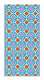 Panorama Agatha Ruiz de la Prada Alfombra Vinílica Hidráulico Azul Figuras Corazones 60x110cm - Alfombra Cocina Vinilo - Alfombra Salón Antideslizante e Ignífuga - Alfombras Grandes - Alfombras PVC