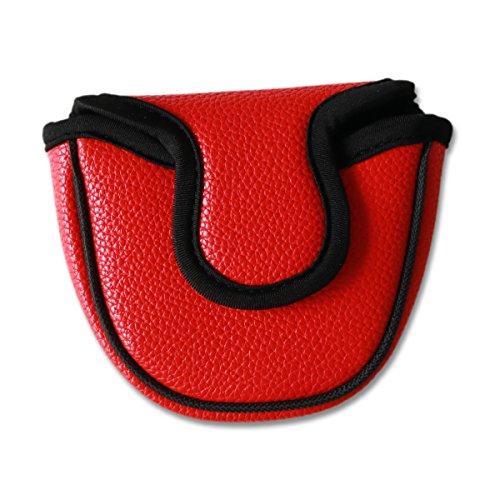 Big Teeth Klassische Golfschlägerhaube für Putter, Schlägerschutz, Magnetverschluss, nicht passend für Eisen, Rot