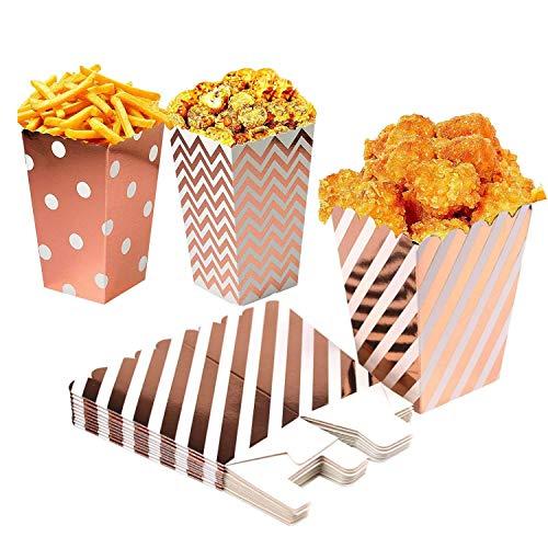 PTN Scatole per Popcorn, Contenitori di Popcorn Contenitori di Caramelle per Spuntini del Partito, Dolci, Matrimoni, Borse per Feste Dolcetti, Natale,Popcorn Contenitori (36pezzi)