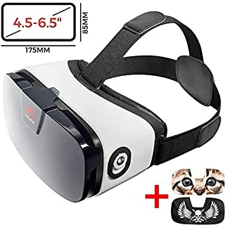 VR Headset - Virtual Reality Goggles by VR WEAR 3D VR Glasses for iPhone 6/7/8/Plus/X & S6/S7/S8/S9/Plus/Note and Other Android Smartphones with 4.5-6.5