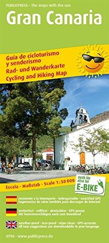Gran Canaria: Rad- und Wanderkarte dreisprachig, wetterfest, reißfest, abwischbar, GPS-genau. 1:50000 (Rad- und Wanderkarte: RuWK)