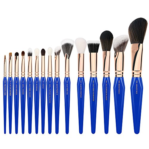 Bdellium Tools Professional Makeup Brush Golden Triangle Phase III - 15 pc. Brush Set with Stand-Up Pouch