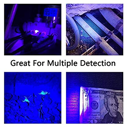 YOUTHINK Pet Urine Detector Light, 51 LED UV Black Light Flashlight Portable Dog Cat Urine Carpet Detector Super Bright UV Light, for Pet Stain, Minerals, Automotive Leak Detection 7