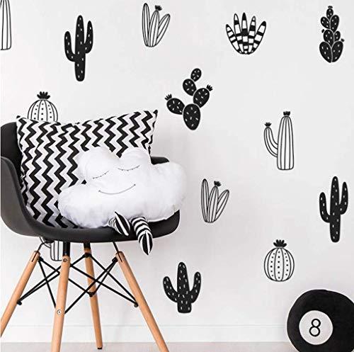 Lovely Woodland Cactus Wall Decal Nursery Art Decoration