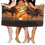 Palms Ocean Tropical Island - Esterilla de yoga con agarre de sudor y toalla combinada, mejor para yoga, pilates, ejercicio, entrenamiento, Bikram y yoga caliente