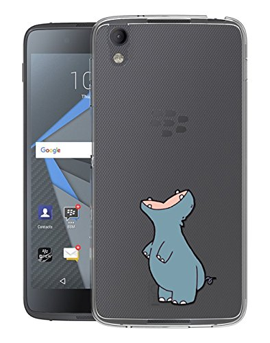 Sunrive Für BlackBerry DTEK50 Hülle Silikon, Transparent Handyhülle Schutzhülle Etui Hülle Backcover für BlackBerry DTEK50(TPU Nilpferd)+Gratis Universal Eingabestift