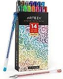 Arteza Penne Glitter in Gel, Set da 14 Pezzi, Punte da 0,8-1,0 mm, Penne Glitterate Colorate, per Scrivere, Colorare e Realizzare Biglietti Personalizzati e Tutti i Tipi di Disegni