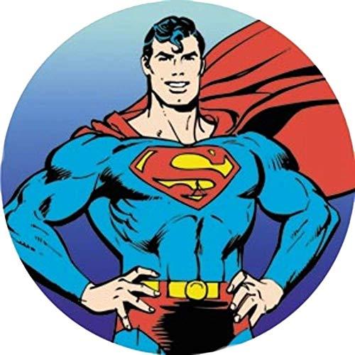 Superman Runde Tortenaufleger 20CM - Geburtstag Tortenbild Zuckerbild Tortenplatte Oblate Kuchenzuckerplatte
