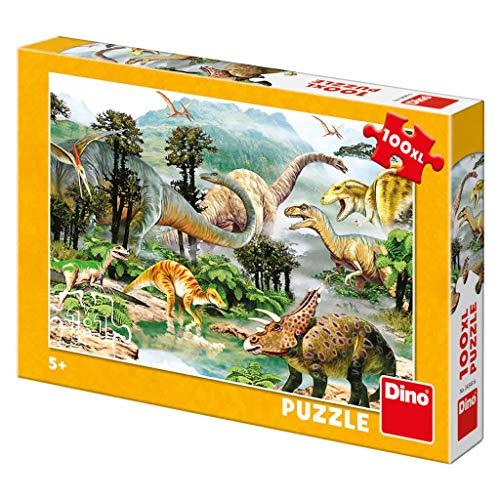 (DINR7) Puzzle Vida De saurios 100 XL, Multicolor   _343436
