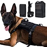 IronSeals AQ Bundle Tactical Service Dog Vest Molle Dog Harness with Handles