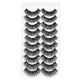 TOSSPER 10 Pabes Theas Naturales Petechos Naturales Cils Maquillaje Pestañas Falsas Fake Eyelash Extension