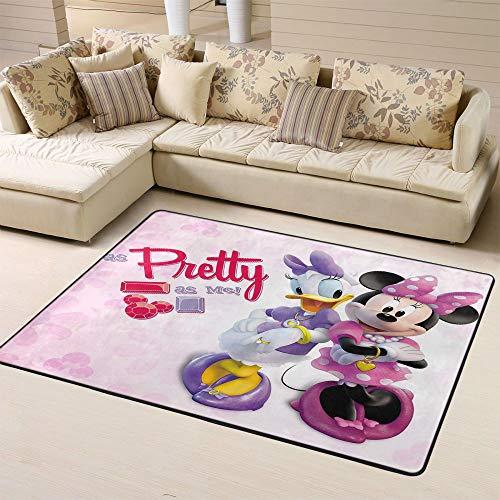 Zmacdk Alfombra pequeña de Mickey Minnie Mouse para el área del aula, regalos para niños para jardín de infantes de 4 x 6 pies (120 cm x G180 cm), Mickey Minnie Mouse