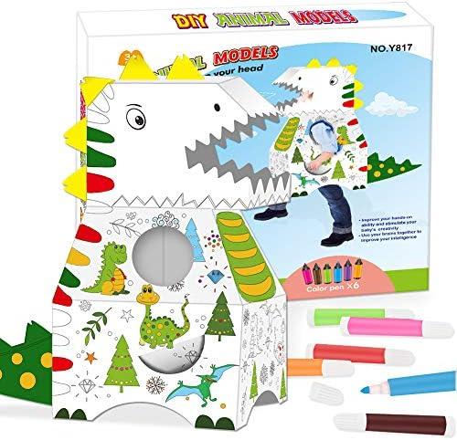 Dinosaur Cardboard Playhouse Playhouses for Kids Indoor Outdoor Kids Large Playhouse Outdoor product image