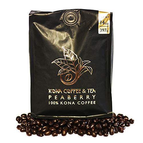 Peaberry (1-14oz Bag) - 100% Kona Coffee : FIRST PLACE WINNER 2018 Kona Coffee Cultural Festival's Crown Division • Single Estate • 2-Day FedEx