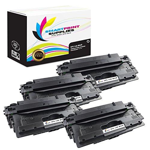 Smart Print Supplies Compatible 14A CF214A MICR Black Toner Cartridge Replacement for HP Laserjet Enterprise 700 M712 M725 Printers (10,000 Pages) - 4 Pack