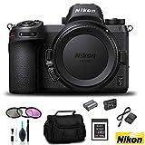 Nikon Z 7 Mirrorless FX-Format Digital Camera (Body Only) - Bundle 64GB Memory Card + EN-EL15 Li-on Battery + External Rapid Charger + 72mm 3 Pc Filter Kit and More - International Version