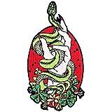 Parche termoadhesivo para la ropa, diseño de Bienaventurada la mano de las serpientes