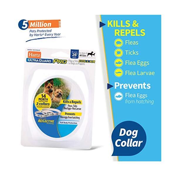Hartz Ultraguard Pro 2 Pack Reflective Flea & Tick Collars for Dogs & Puppies