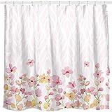Sunlit Pink Flowers Fabric Shower Curtains for Girls Beautiful Flower Design...