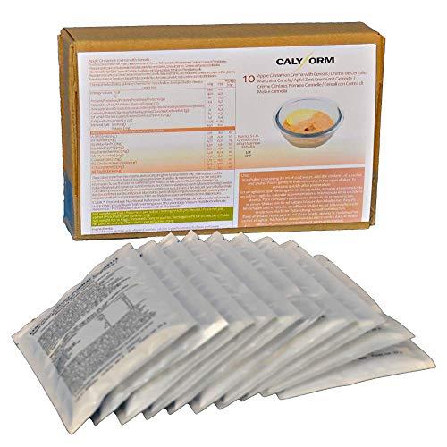 CALYFORM Crema Proteica para dieta sabor Cereales, Manzana y Canela saciantes | Proteína en polvo para dieta proteica de calidad y aporte en aminoácidos esenciales (10 Sobres)