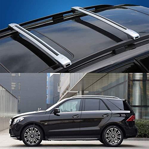 SFSGH Barras transversales para Techo de aleación de Aluminio con Cerradura, antirrobo, portaequipajes Superior para Coche para Mercedes Benz GLE (tamaño: Apto para Mercedes Benz GLE 201