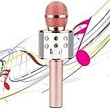 Micro Karaoké Sans Fil Bluetooth, 4-en-1 Portable Microphone Karaoke...