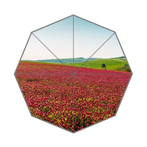 Flipped Summer Y Gespiegelt Sommer Y Bunten Felder der Wohlriechende mit Ansitz Individuelle Art Prints Regenschirm