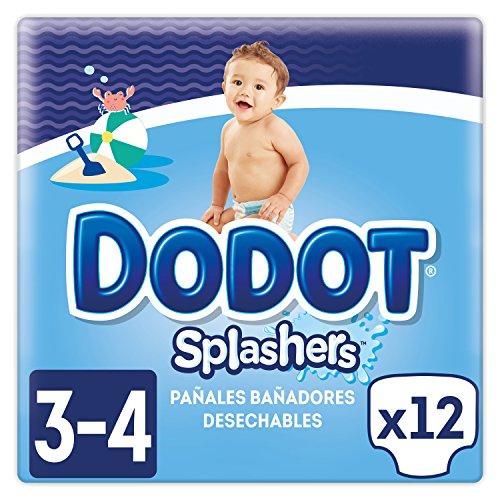 Dodot Splashers Pañales Bañadores Desechables, No se Hinchan y Fácil de Quitar, Talla 3 (6-11 kg) - 4 x 12 Unidades