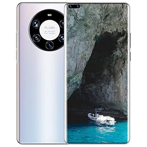 Smartphone Mate40 Plus + Teléfono Móvil de Pantalla Grande, Android 10.0 con Tecnología de Inteligencia Artificial, Procesador de Núcleo Fuerte Incorporado, con Cubierta Trasera Chapada en Vidrio 3D