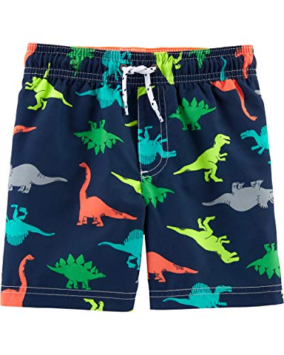 Carter's Boys' Baby Swim Trunk, Dinosaurs, 6 Months