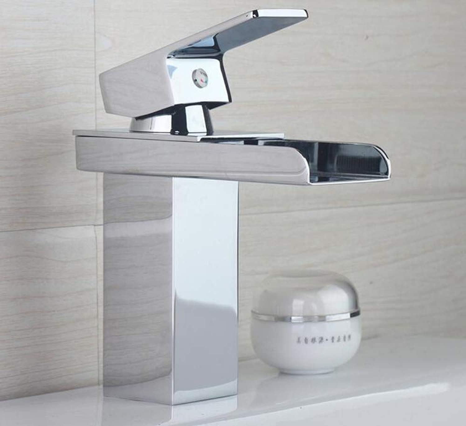 Bathroom Faucet Bathroom Faucets Waterfall Chrome Polish Basin Taps Hot and Cold Water Bathroom Sink Tap Mixer Faucet Torneira