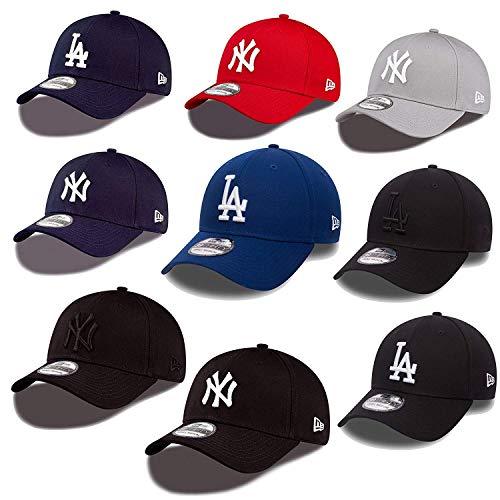 New Era 39thirty Gorra New York Yankees Los Angeles Dodgers en el Bundle con UD CALAVERA PAÑUELO en Muchos Colores - #07 LA Dodgers, Medium / Large