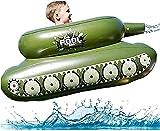 MeTikTok Piscina Inflable Juguetes Panzer Flor Piscina para Niños Adultos, Colchón De Aire Barco/Juguetes De Agua, Hombres De Agua Juguetes De Rodillo, Platillo con Pistolas De Agua