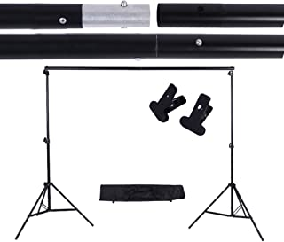 2 * 3m Adjustable Background Support Stand Photo Backdrop Crossbar Kit with two Clamps