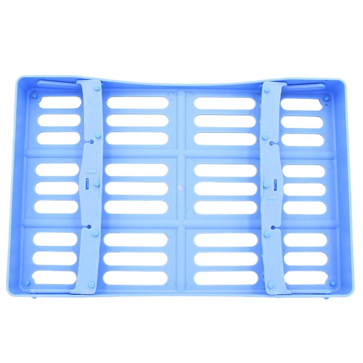 うんざり慈悲深いパン屋HEALLILY 歯科用手術器具用プラスチック製消毒トレイ10個用ツール収納(ブルー)