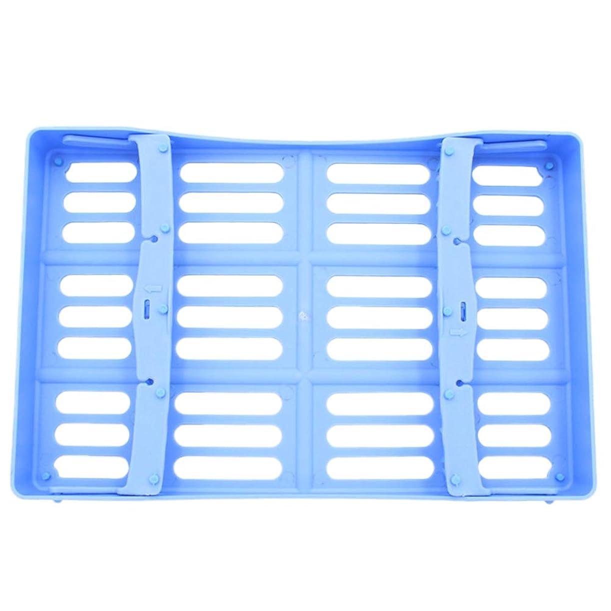 頻繁に未使用バドミントンArtibetter 歯科用滅菌カセット外科用滅菌ボックス消毒トレイ10ツール収納