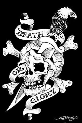 Preisvergleich Produktbild 1art1 Ed Hardy - Death Or Glory Poster 91 x 61 cm