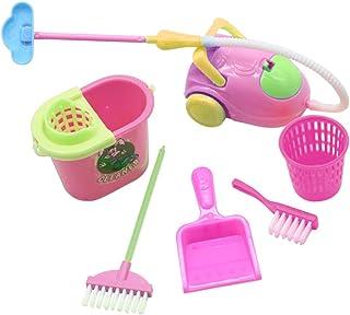 rongweiwang Barn simuleringsleksaker kit konstgjorda barn lekborstset tvättverktyg hushåll moppborste vakuum hink, 6 styck...
