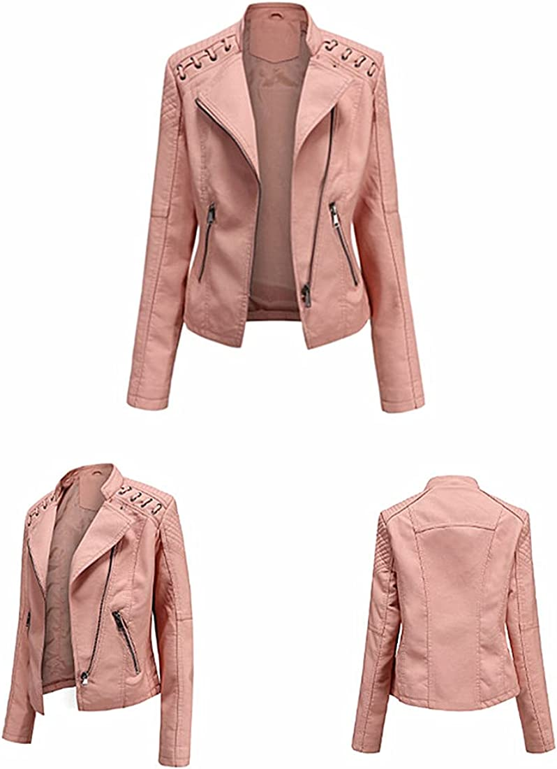 SJDHS Women Leather Cheap sale Jacket Perfectly Shaping safety Faux