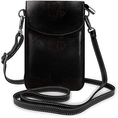 Umhängetasche für Handys The Cure Black One Size Personalisierte kleine Handy-Geldbörse für Frauen