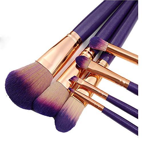 Pinceau de maquillage 7 en Nylon Fard à paupières lèvre pour Les lèvres Maquillage Sac de Maquillage beauté Maquillage kit Gros,Purple