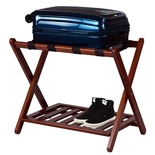 Casual Home Luggage Rack, Walnut (New)