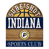 WinCraft NBA Indiana Pacers Wood Club Sign, 10 x 11, Black