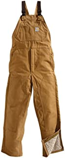 Carhartt mens Flame-resistant Duck Quilt-lined Bib Overall