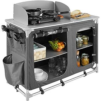 TecTake 800585 Cuisine de Camping Meuble de Jardin - Divers modèles - (Type 2 | n° 402920)